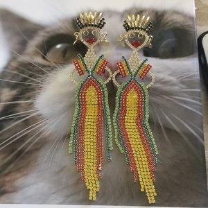 Queen Crystal Inlaid Earrings